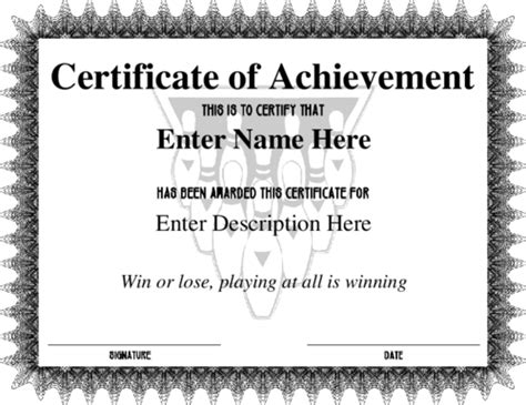 bowling certificate template award certificate templates