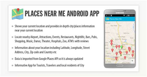 Android Near Me by Places Near Me Android App Mobile App Development