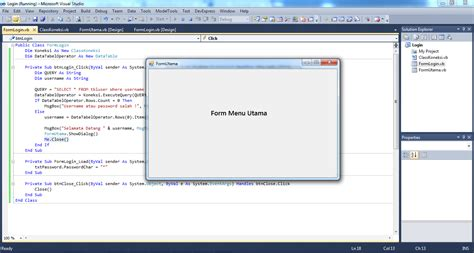 membuat form login vb 6 0 dengan database mysql membuat form login dengan visual studio 2010 visual basic