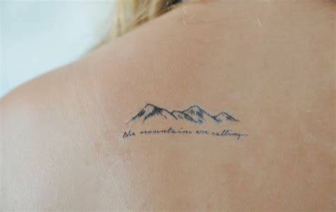 64 simple mountain tattoos collection