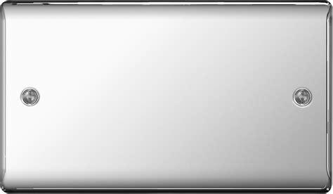 Decor Lights Home Decor by Bg Nexus Metal Npc95 Polished Chrome 2 Gang Blank Plate