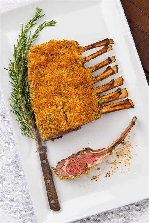 Rosemary Rack Of by Rosemary And Garlic Roasted Rack Of