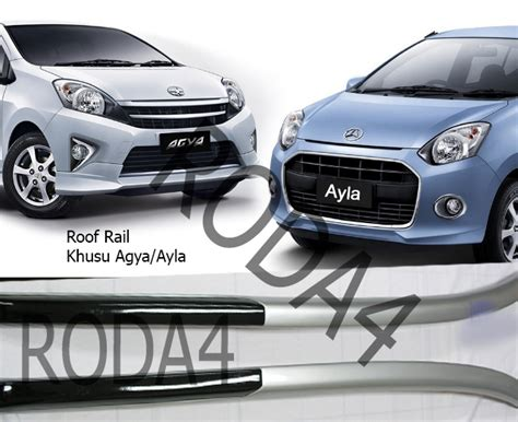 Cross Bar Hitam Jepit Roof Rail Isuzu Panther 2020 jual roof rail khusus mobil agya ayla roof rack roof rail cross bar