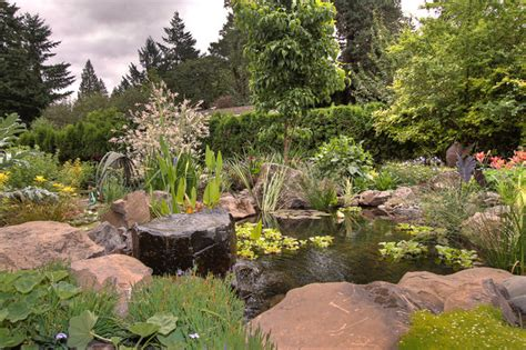 Ideas On Remodeling A Small Bathroom natural pond traditional landscape portland by