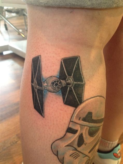 tie fighter tattoo tie fighter on the empire leg more wars s
