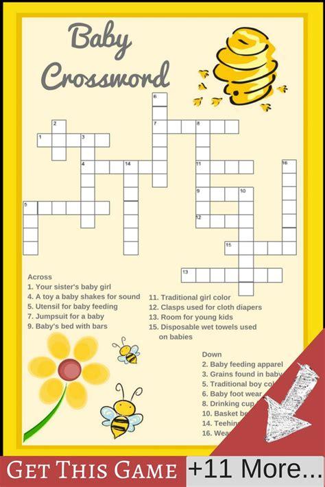 Baby Shower Crossword by 25 B 228 Sta Crucigrama Para Baby Shower Id 233 Erna P 229