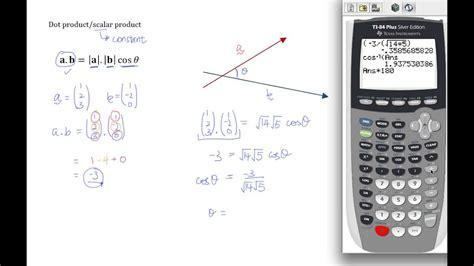 vectors dot product  scalar product  levels  math