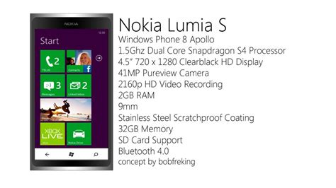 Microsoft Lumia Ram 2gb nokia lumia s runs windows phone 8 apollo 2gb ram 2160p