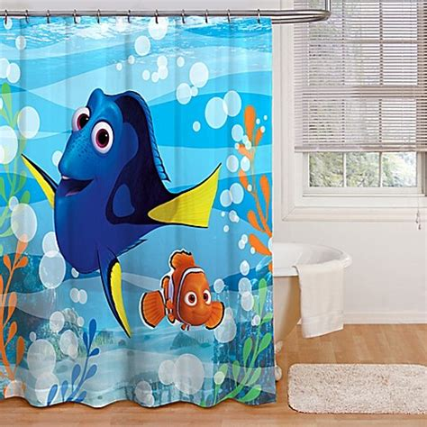 nemo shower curtain finding dory quot adoryble quot shower curtain bed bath beyond
