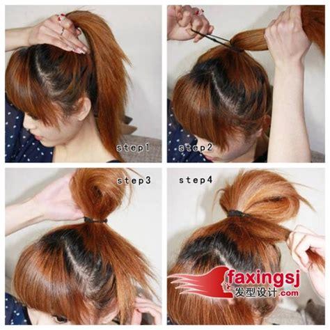 tutorial rambut gelung 中短发怎么扎好看 中短发发型扎法 发型师姐