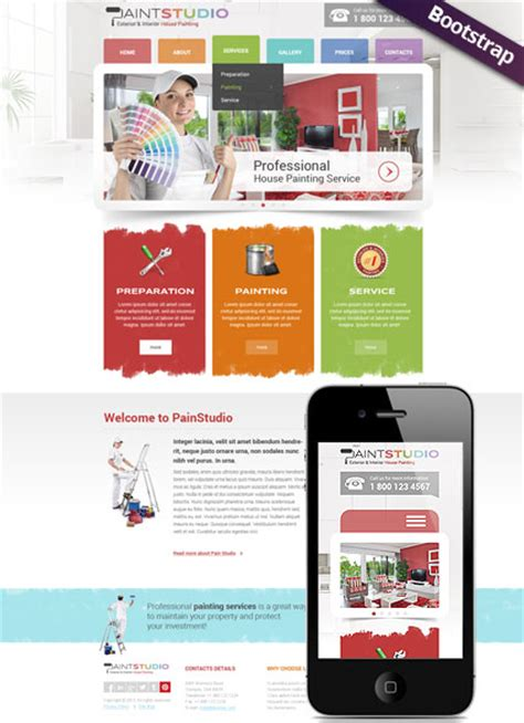 House Painting Html Website Template Best Website Templates House Painter Website Template