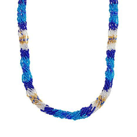 necklaces for women beaded necklaces jewelry hsn himalayan gems multistrand potay bead bracelet and