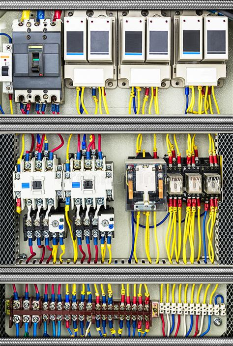 electric switchboard stock photo image of panel wire