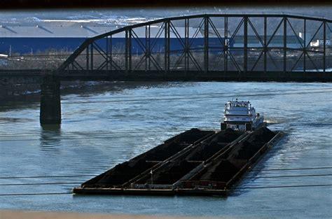 tugboat pushing barges tugboat pushing barges up the monongahela ruth e