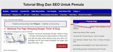 tutorial tentang blogger cara menghilangkan tilkan posting dengan label blogspot
