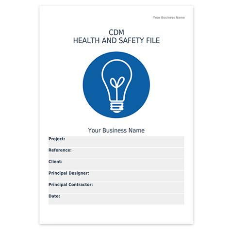 file template cdm health and safety file template darley pcm
