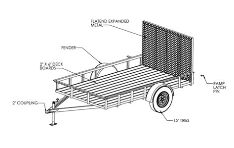 Diy Utility Trailer 6x10 Trailer Plans Building Plans For Utility Trailers