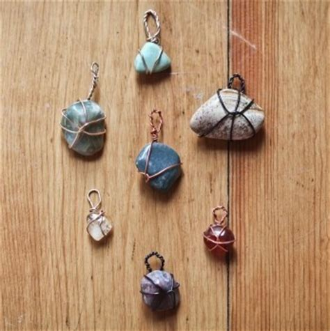 how to make rock jewelry with wire true blue me you diys for creatives