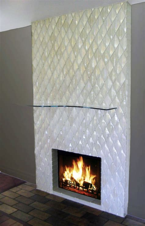modern fireplace designs with glass built in unique tiled wall