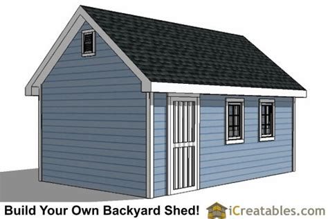12x20 traditional backyard shed plans icreatables