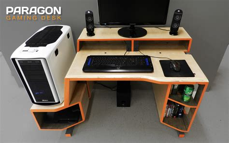 Paragon Gaming Desk By Tom Balko At Coroflot Com Pc Gaming Desk For Sale