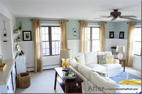 coastal cottage family room before after paint colors