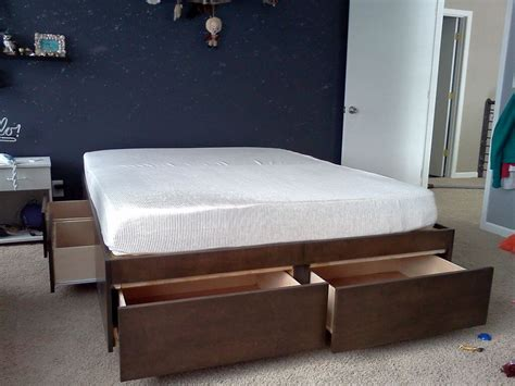 diy platform bed with storage how to build a diy bed with loads of storage