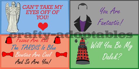 valentines cards cheap doctor who valentines cards set of four cheap by
