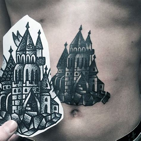 medieval castle tattoo designs 80 castle tattoos for masculine fortress designs