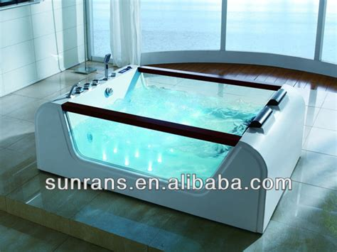 glass bathtub price hot sale portable freestanding glass bathtub with low
