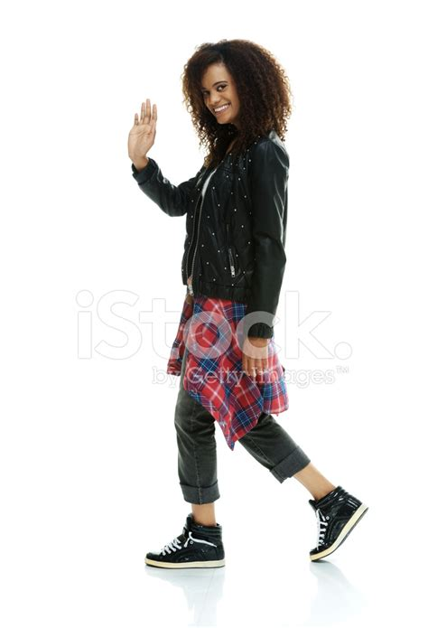 25679 Blue Denim cheerful punker waving looking at stock photos freeimages