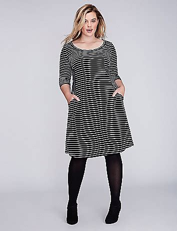 Limited Edition Mix Stripe Knitted Top Terlaris striped knit fit flare dress bryant
