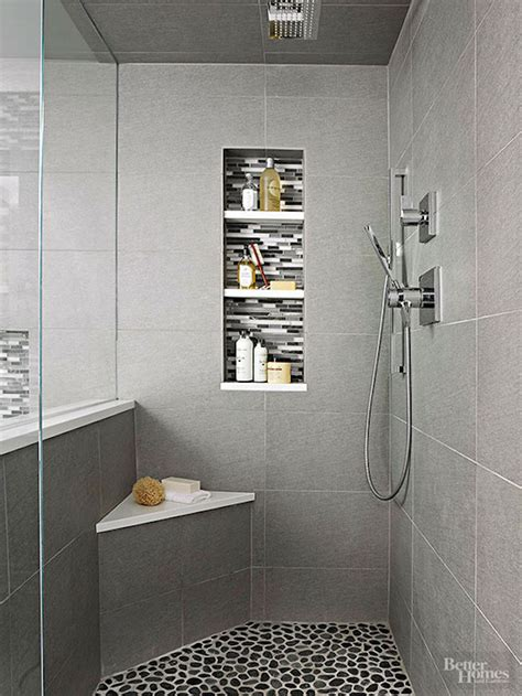 small corner showers small corner bench in a modern gray walk in shower
