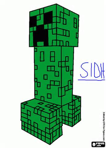 minecraft creeper coloring page creeper minecraft coloring pages