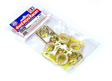 Tamiya 95076 Fully Cowled 4wd 20th White Tires Gold Plated Wheels tamiya mini 4wd model fully cowled white tires gold