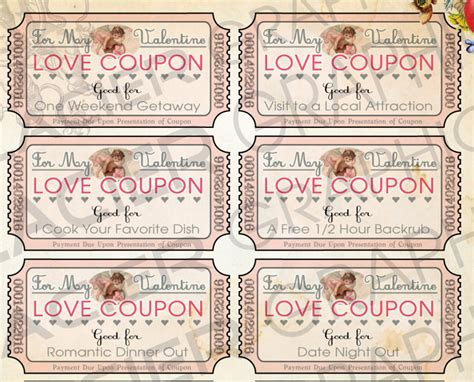printable love coupons pdf valentine love coupons last minute valentine gift for her