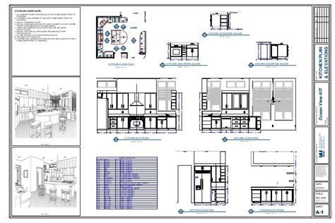 building floor plan detail and elevation view detail dwg file kitchen plan elevation drawing