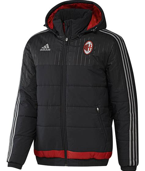 Ac Jacket Adidas Ac Milan Adidas Padded Jacket Black 2015 16 Zip