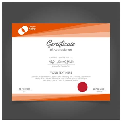 certificate design elegant elegant certificate design vector free download