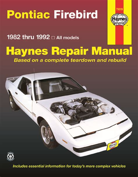 repair manual haynes 24016 fits 82 92 chevrolet camaro ebay pontiac firebird 82 92 haynes repair manual haynes manuals