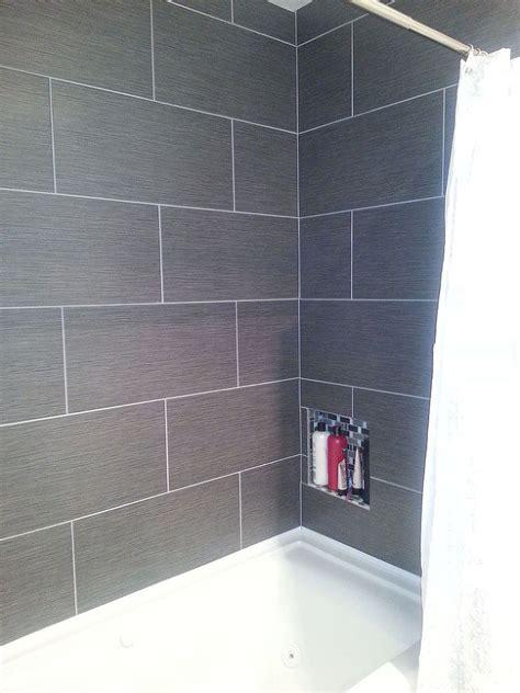 Small Master Bathroom Makeover Master Bathrooms Bath Grey Tile Bathroom Floor