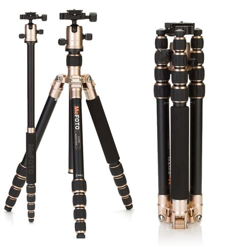 Tripod Mefoto roadtrip gold travel tripod monopod with at