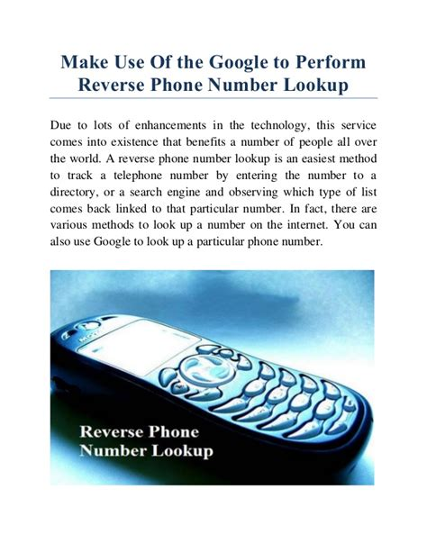 Number Lookup Phone Number Lookup Process