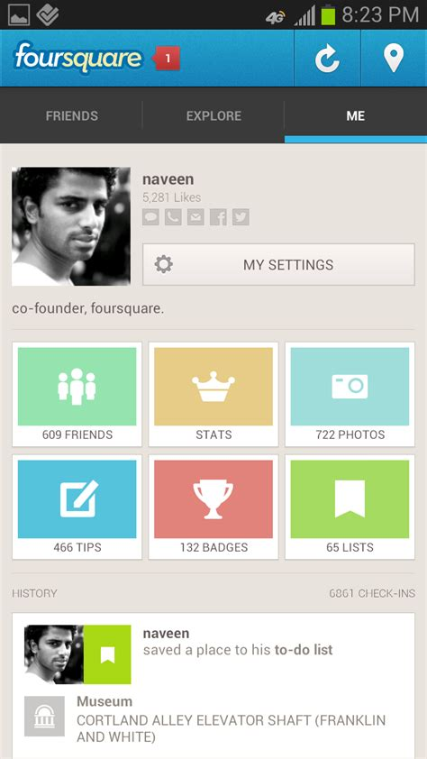 android users android foursquare screenshots mobile patterns