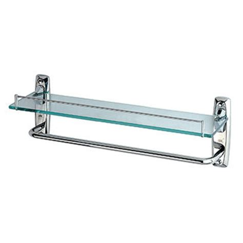 Glass Bathroom Shelves With Towel Bar Gps
