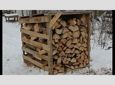 Firewood Storage The Easy Way - Pallet Wood Sheds - YouTube Firewood Storage