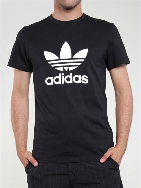 Adidas T Shirt Tshirt Black adidas t shirt trefoil black white the t