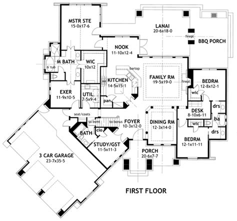 tuscan floor plans house plan 65869 at familyhomeplans com