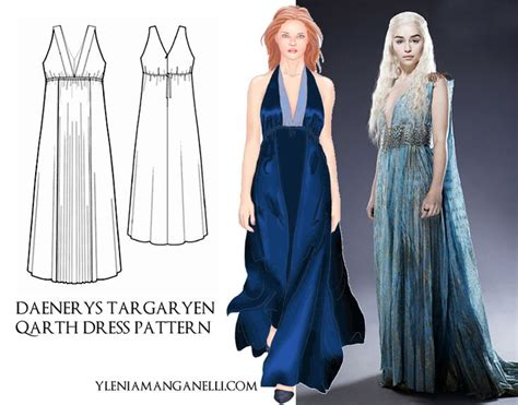 pattern for daenerys dress daenerys targaryen dress pattern daenerys targaryen qarth