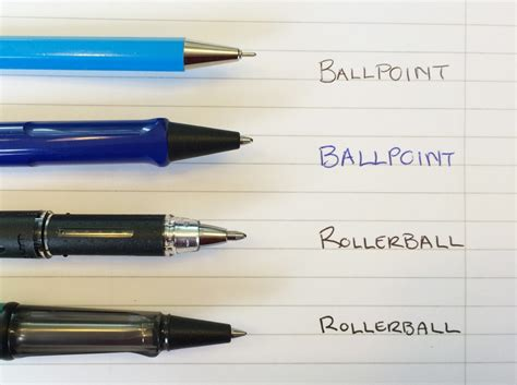 best rollerball pens ballpoint vs rollerball what s the difference between